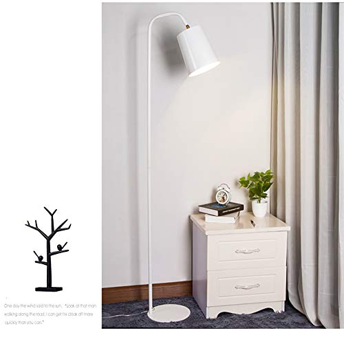 3c White Led Yellow Body - Floor Lamp, E27 9W/12W Bedroom Living Room Remote Control Yellow Simple Vertical Lighting 26162Cm,White,Remotecontrol