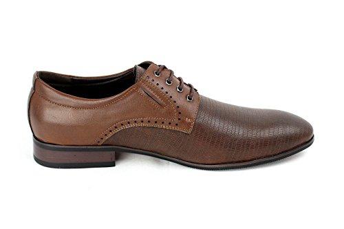 Moda para hombre Italiano Vestido Zapatos Marrón