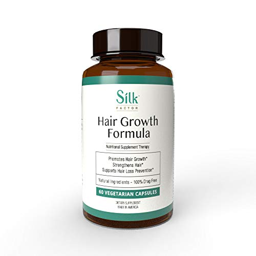 Silk Factor Hair Growth Vitamin Supplement - Natural Hair Loss Treatment for Thicker and Fuller-Looking Hair - For Men and Women, Clinically Proven - 30 Day Supply, 60 Capsules