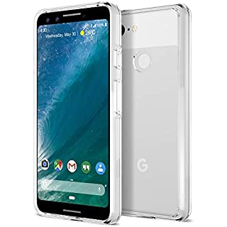 Trianium CLARIUM Series Case Designed for Google Pixel 3 (2018) Premium Clear Hybrid Cover with Shock Absorption TPU & PC Back Reinforced Rigid Corner Cushion/Scratch Resistant - Clear