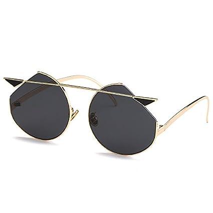 DaoRier Gafas de sol polarizadas con ojo de gato, metal, Gris, A3