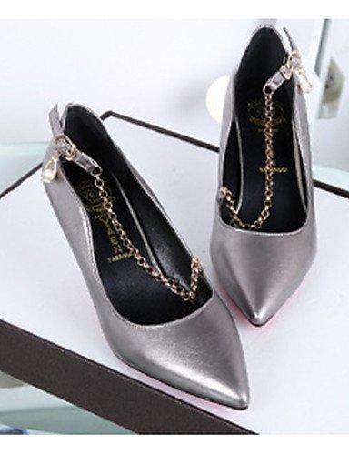 GGX/Damen Schuhe PU Sommer Heels Heels Casual Stiletto Heel andere schwarz/pink/grau dark gray-us5.5 / eu36 / uk3.5 / cn35