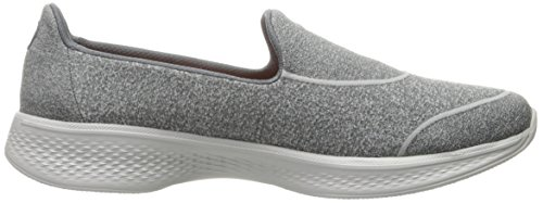Skechers Damen GOwalk 4-Super Sock 4 Sneakers Charcoal