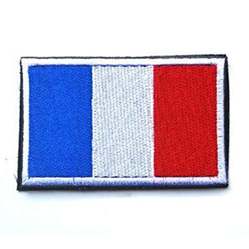 ShowPlus France FR Flag Military Embroidered Tactical Patch Morale Shoulder Applique