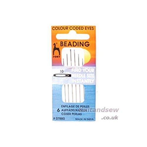 Pony Colour-Coded Eye Needles: Beading 10, Multi PONY_P07880-1
