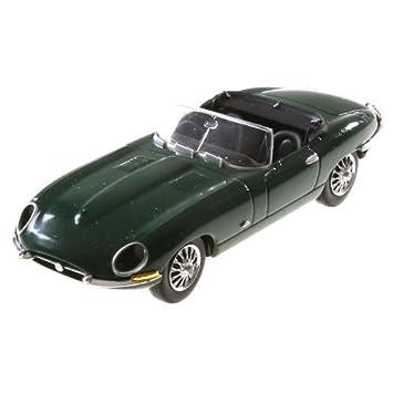 Voiture Miniature Jaguar Type E Cabriolet 143 Vert Anglais Del