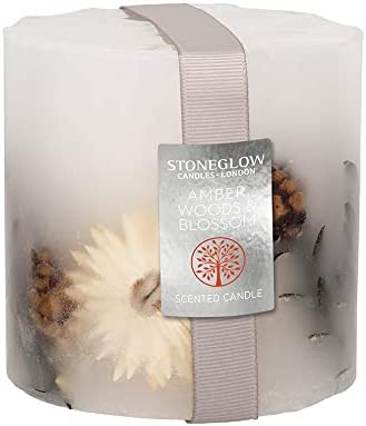 Stoneglow Vela de Cera Natural Decorada con Aroma Natures Gift, Varios diseños: Amazon.es: Hogar