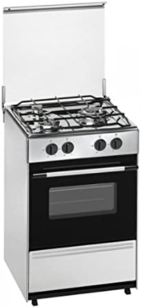 Meireles G 1530 DV X - Cocina, Gas butano/propano, Volumen útil 53L, Gris (Acero inoxidable)