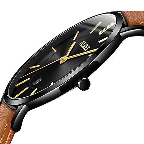 OLEVS Men Watches 2018 Luxury Brand Calendar Ultra thin Watches Water resistant Sports Wristwatch Fashion Casual Male Wrist Watch Leather Quartz Minimalist Watch
