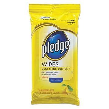 Promesa limón aroma gamuza de toallitas húmedas,, 7 x 10, blanco, 24