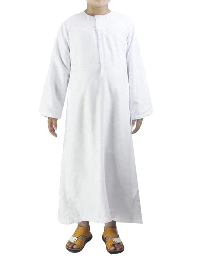 Andopa Boy Casual Washed Skinny Fashion Islamic Embroidery Blouse Shirts