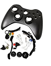 Timorn Full Gehäuse Shell Buttons Thumbsticks Ersatz Fall Custom Cover Kit für Xbox 360 Wireless Controller (Negro)