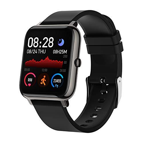 BOZLUN Smartwatch,Reloj Inteligente Impermeable IP67 para Hombre Mujer Niños,Monitor de Sueño Pulsómetros Cronómetros Contador de Caloría,1.4 Inch Pantalla Táctil Smartwatch para Android iOS(Negro) a buen precio