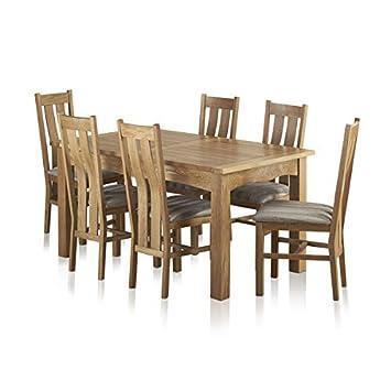 Oak Furniture Land Kairo Massiv Eiche Natur 5 Ft X 3 Ft Ausziehbarer