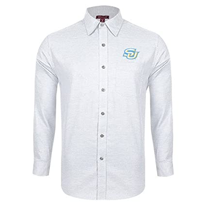 c65202b4d Southern University Red House White Diamond Dobby Long Sleeve Shirt   Interlocking SU  - Small