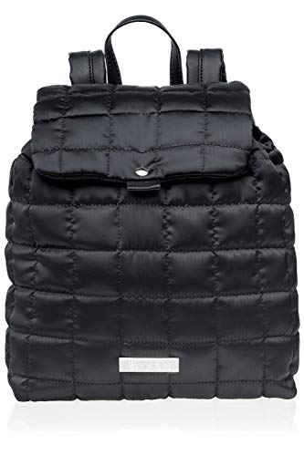 Wear Moi DIV103 Polyester Quilted Satin Backpack Black ()