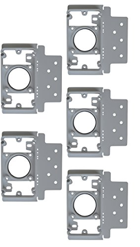 ZVac 5 Pack Central Vacuum Cleaner Inlet Install Mounting Bracket/Central Vacuum Wall Plate Backing Compatible for All Central Vacuum Systems (Vacuum Inlet Central)