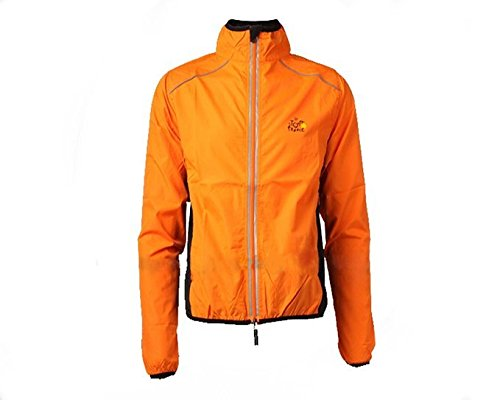 orange XXXL Hysenm Tour De France Waterproof UV Predection QuickDry Breathable Cycling Jacket With Back Pocket