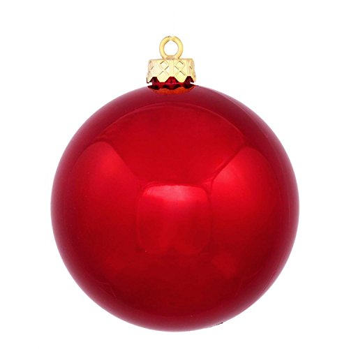 Northlight Red Hot Commercial Shatterproof Shiny Christmas Ball Ornament 8