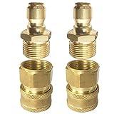 High Pressure Washer Hose Adapter M22 Female 3/8' QD + M22 Male...