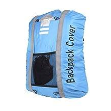Camping Backpack Bag Rain Cover Dustproof with Helmet Mesh Case 25L- 40L Blue