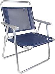 Cadeira Oversize Alumínio Azul Mor