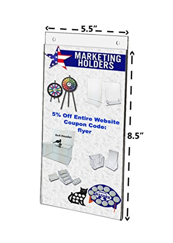 Marketing Holders Clear Acrylic Sign Holder 55 X 85 Inch Wall