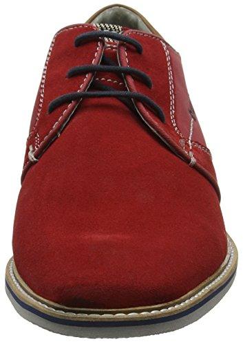 Derby 311447011400 Bugatti Hombre Cordones Red Rojo para Zapatos de xI6Y6wrnd