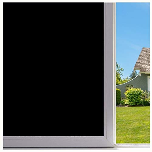 Velimax Self Adhesive Privacy Tint Black Stickers Decorative Window Film Blackout 23.6'' x 78.7''(60CM 200CM) by Velimax