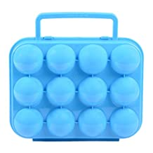 FUBARBAR Egg Carriers Egg Holder Egg Storage Tray Portable Storage Blue(12)