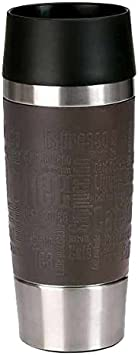 Eistee Emsa 513357 Travel Mug-//Thermo -// Isolier -//mobiler Kaffeebecher Quick Press Verschluss 360ml Eis-Kaffee blau