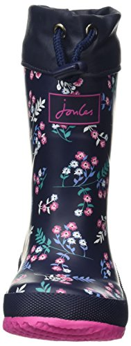 Fille Fnvdtsy Navy French Winter Bleu Pluie Welly Joules de Bottes Ditsy pvXFWa