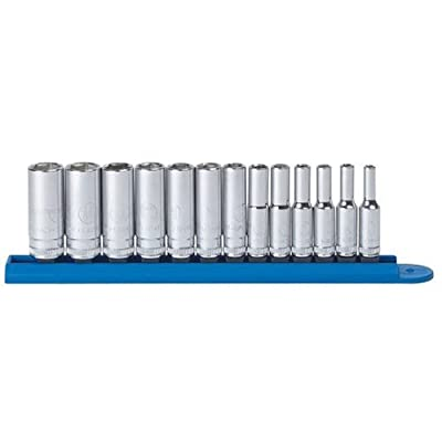 "GEARWRENCH 13 Pc. 1/4"" Drive 6 Point Deep Metric Socket Set - 80304: Home Improvement"