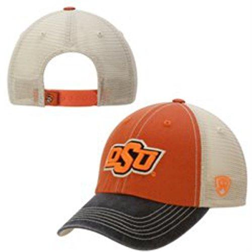 杭聞きます振動するOklahoma State Cowboys Top of the WorldオレンジブラックAdjスナップバック帽子キャップ