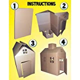 Cardboard Playhouse Corrugated Box Play House
