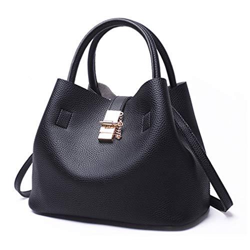 Bolsos de Black Hombro de de de Mujer Mujer 29x15x23cm Hombro Bolsos Black nw17qRxx