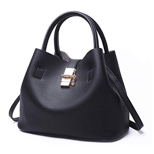 Hombro Black de Hombro 29x15x23cm de Mujer de Bolsos Black Bolsos Mujer de Zxzwn6Hnq5