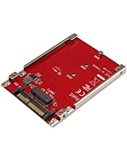 """StarTech.com M.2 to U.2 Adapter - for M.2 PCIe NVMe SSDs - PCIe M.2 Drive to 2.5"""" U.2 (SFF-8639) Host Adapter - M2 SSD Converter, Red (U2M2E125)"""