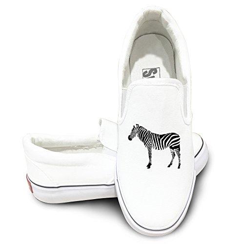 Justin Bieber Power Ranger Costume (ALIPAPA Custom Men's & Women's Custom Zebra Safari Wild Animal Mode Shoes White Size 37)