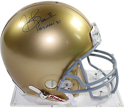 Tim Brown Autographed Signed Notre Dame Full Size Authentic Proline Helmet with Heisman 87 Insc - Authentic Signature