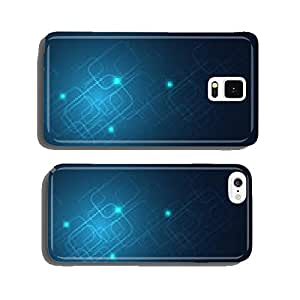 blue line rectangle background vector cell phone cover case Samsung S5