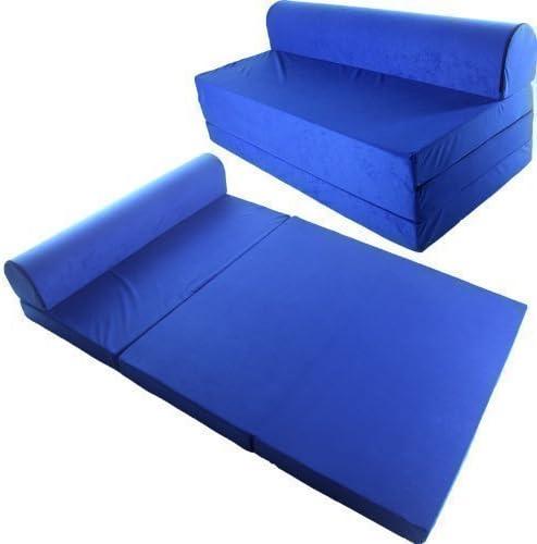 toys4u Sofá Cama Plegable 200x120 cm Colchoneta Abatible Cama de Invitados - 200x120 cm, Azul