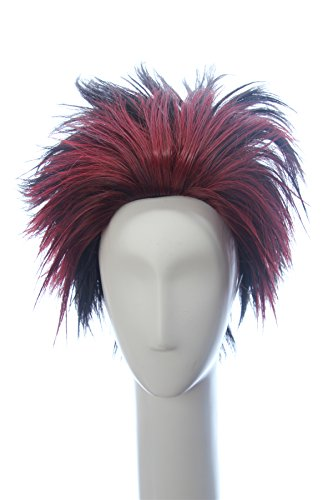 Weave Wigs Red Ombre Black Short Cosplay Wig Anime Cosplay Wig