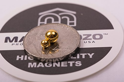 3MM 1/8 Inches Magnetic Balls/Beads Round Magnets by IO-Tech (TM) (Set of 50) Multi-Use Craft & Refrigerator Magnets – Round Gold Magnets on Fridge – – Office Organization dry Erase Magnets