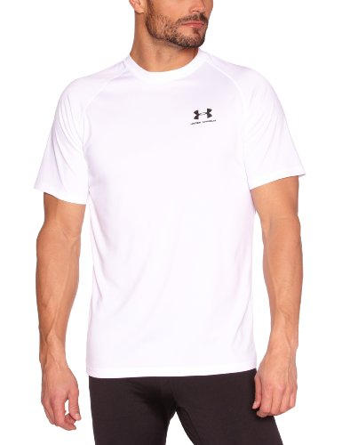 Under Armour Tech HeatGear Short Sleeve T-Shirt - X Large - White