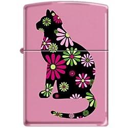 NEW ZIPPO 238 Pink Matte Funky Cat