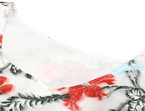 HJMTRY Elegante manga media Jacquard Ms una línea de vestir picture color