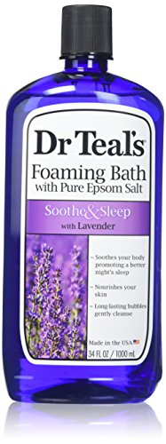 (Dr. Teal's Foaming Bath, Lavender, 34 Fluid Ounce,Pack of 2)