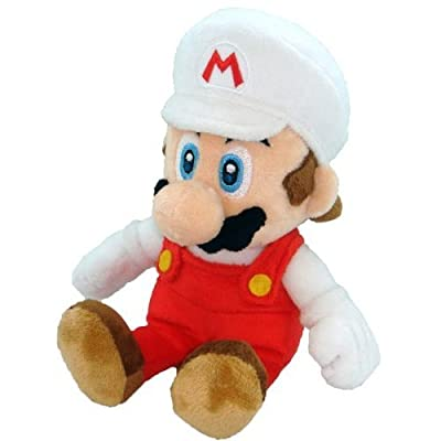 Super Mario Plush - 8 Fire Mario Soft Stuffed Plush Toy Japanese Import from Japan VideoGames