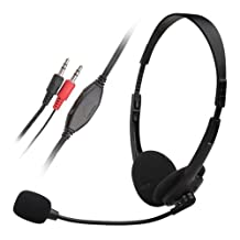 Everydaysource Black Handsfree Headset with mic for Skype